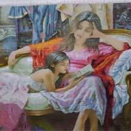 تابلو فرش دختر قصه گو