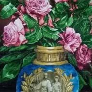 تابلو فرش طرح گلدان