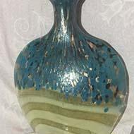 دکوری دست ساز ریز نقاشی شده روی شیشه