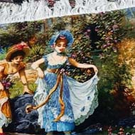 فروش تابلو فرش دست بافت گردش در قصر