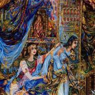 فروش تابلو فرش طرح یوسف و زلیخا
