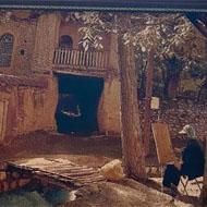 فروش تابلو فرش روستا و اسب